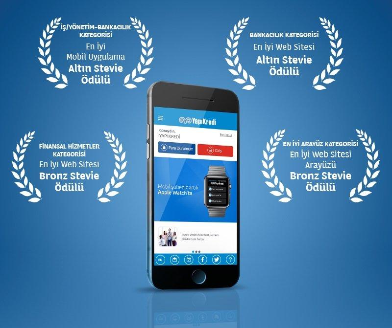 Yapı Kredi'ye En İyi Mobil Şube Ödülü